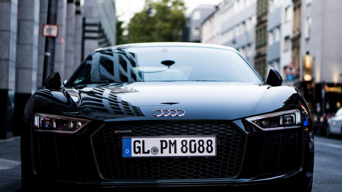 Close up photograph of Audi front grill | DPF Cleaning Express